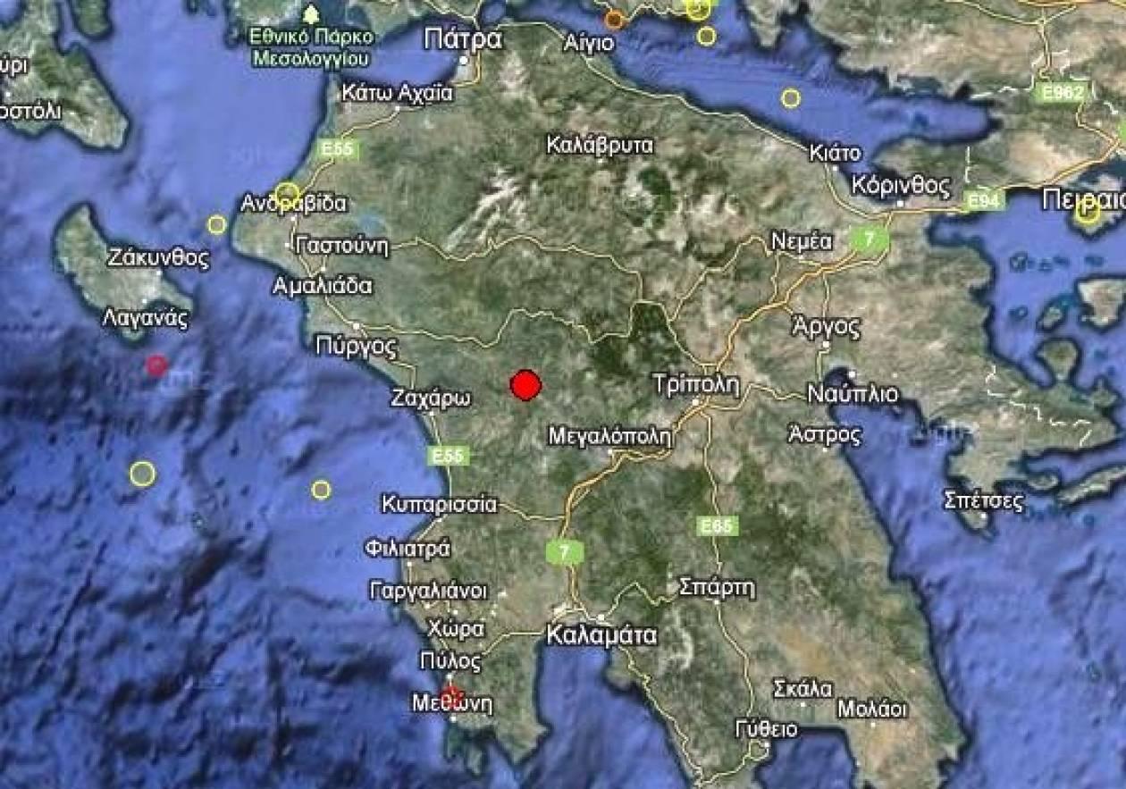Σεισμός 3,2 Ρίχτερ στην Πελοπόννησο