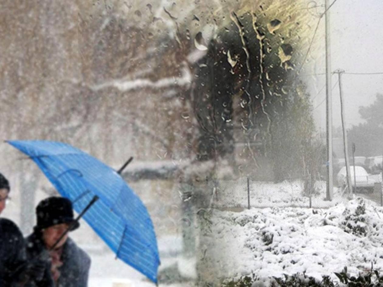 Βροχές και χιόνια μέχρι την Πρωτοχρονιά