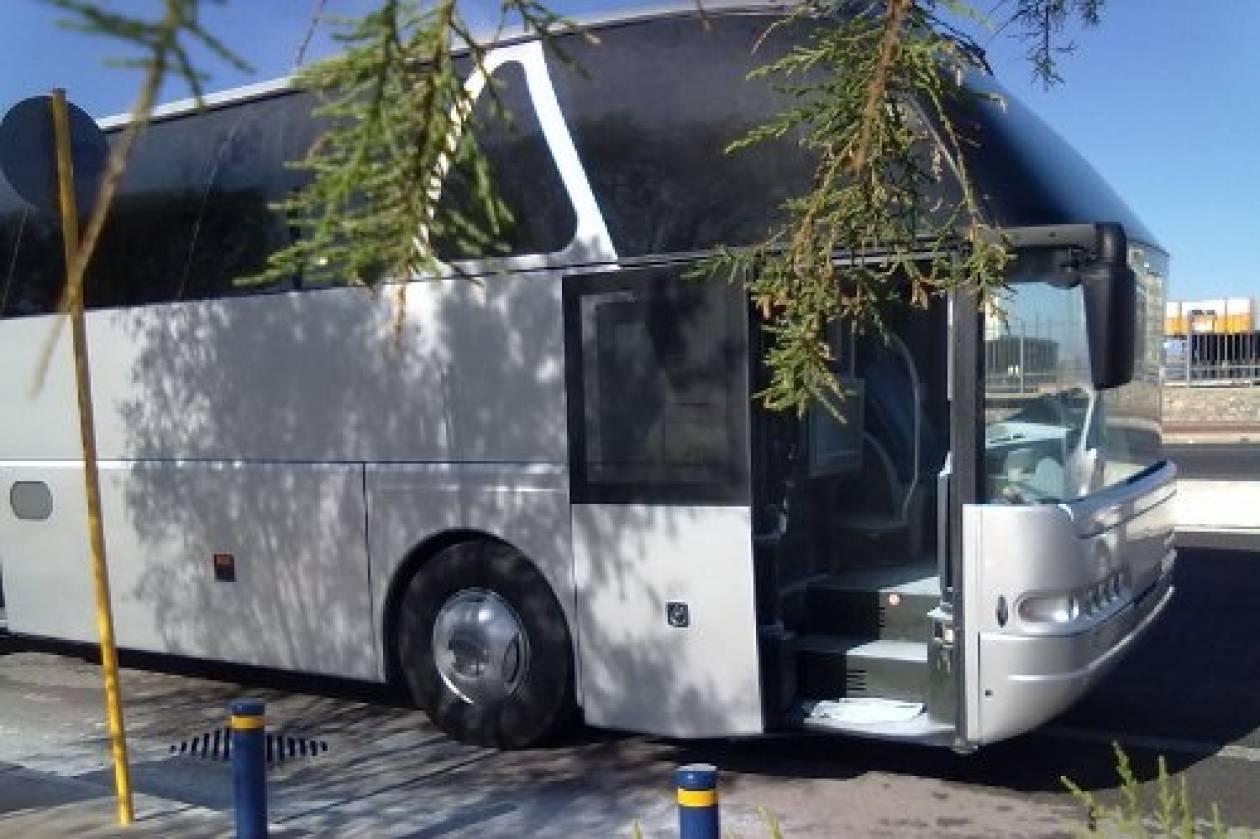 Πυρκαγιά σε λεωφορείο στο Ηράκλειο Κρήτης