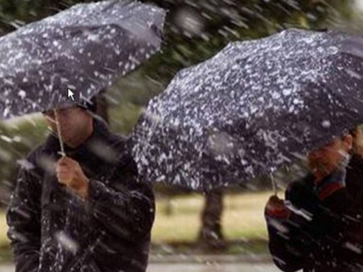 Βροχές και χιόνια σήμερα - Εξασθένιση των φαινομένων από την Τρίτη