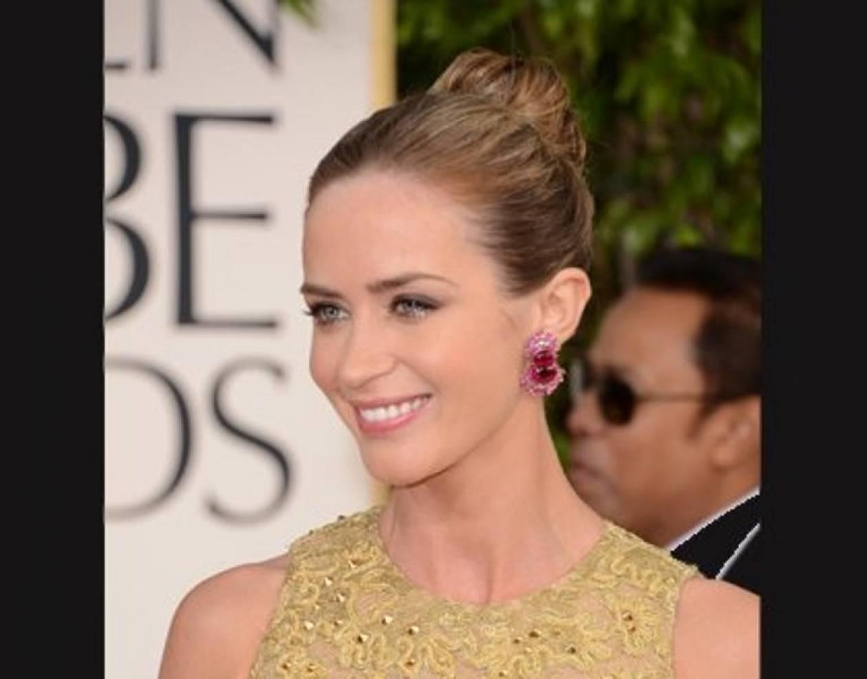 Golden Globes Beauty: Το χτένισμα της Emily Blunt