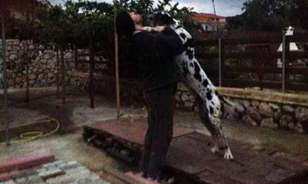 Τα παιχνίδια του Νίνο με το σκύλο του λίγες μέρες πριν γίνει μπαμπάς