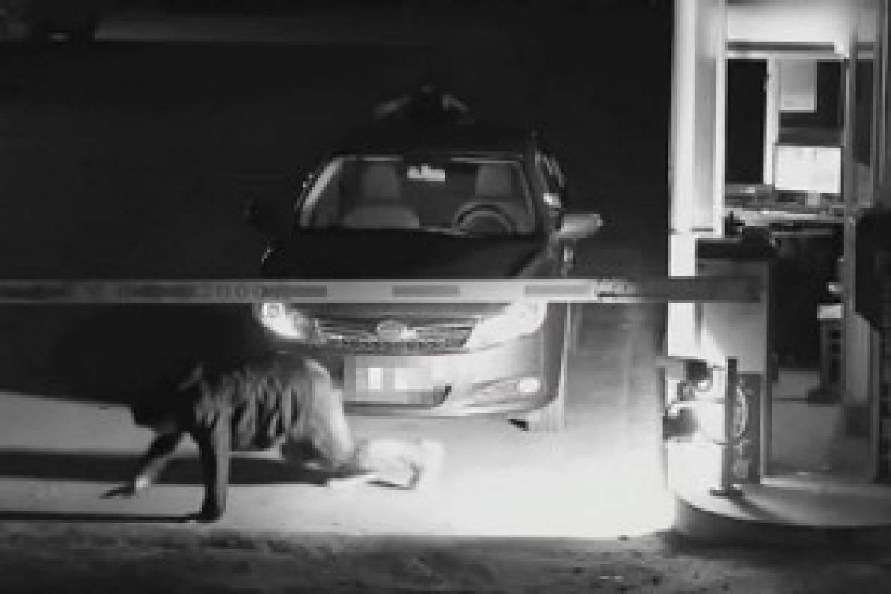 Βίντεο: Έκανε το... φάντασμα για να μην πληρώσει το πάρκινγκ!