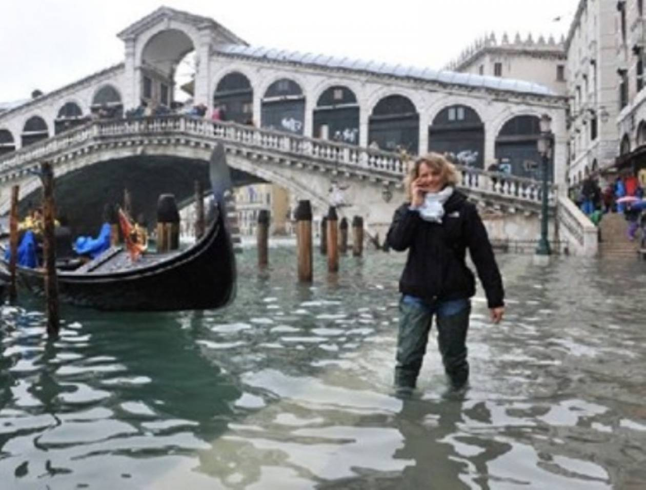 Σε λιμνοθάλασσα μετατράπηκε η Βενετία...