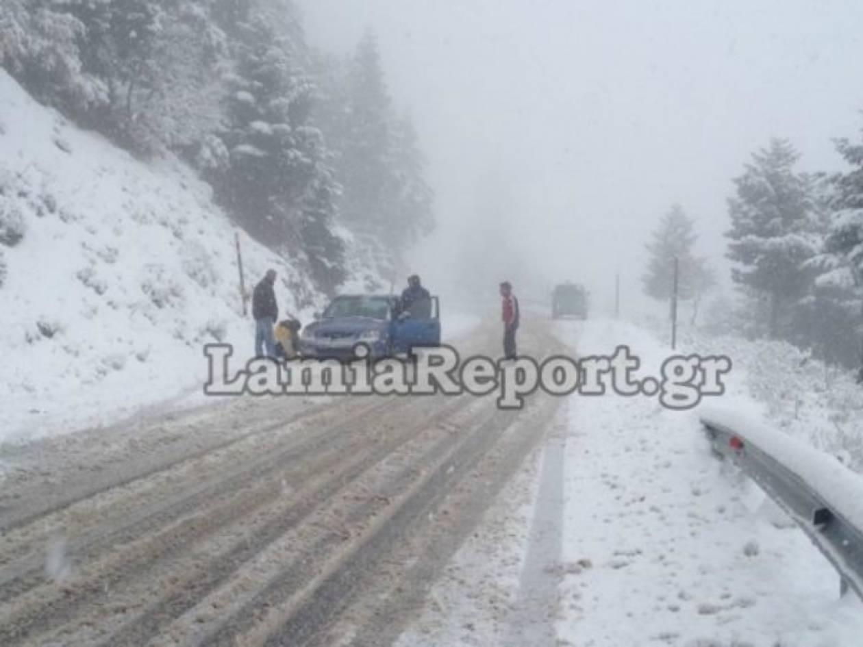 Σφοδρή χιονόπτωση σε όλη την Ευρυτανία (pic)