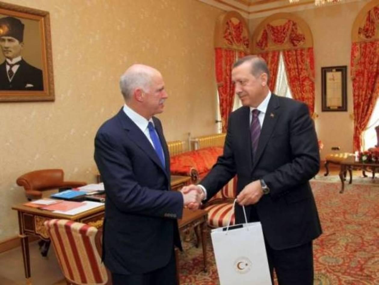 Συνάντηση Ερντογάν-Παπανδρέου αυτή την ώρα