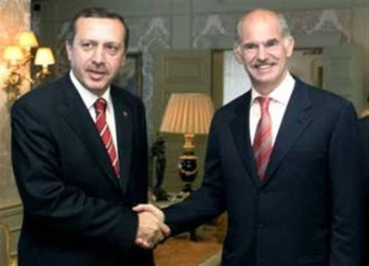Για συνεργασία σε «κοινά» συμφέροντα συζήτησαν Παπανδρέου-Eρντογάν
