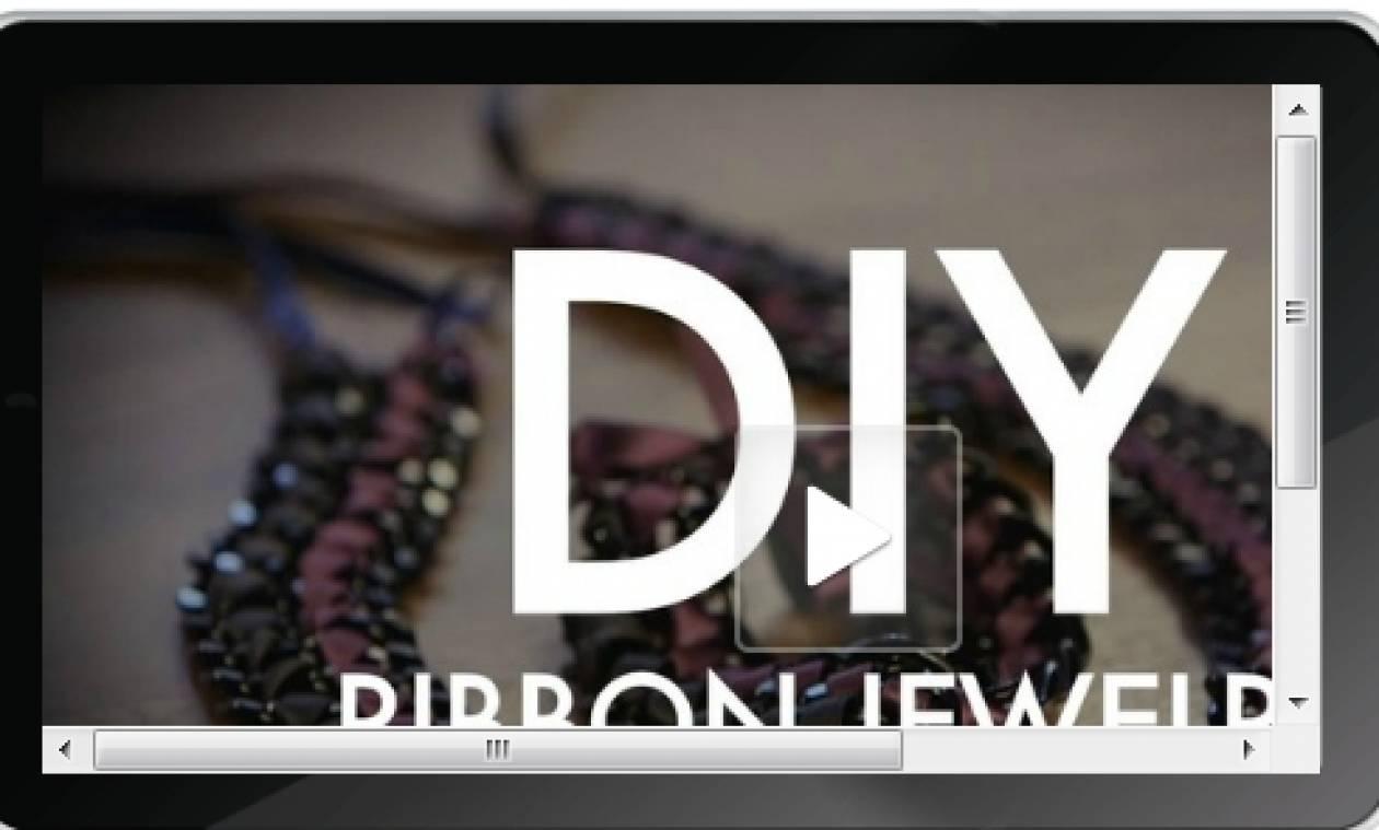 Φτιάξτε stylish κοσμήματα από αλυσίδες και κορδέλες
