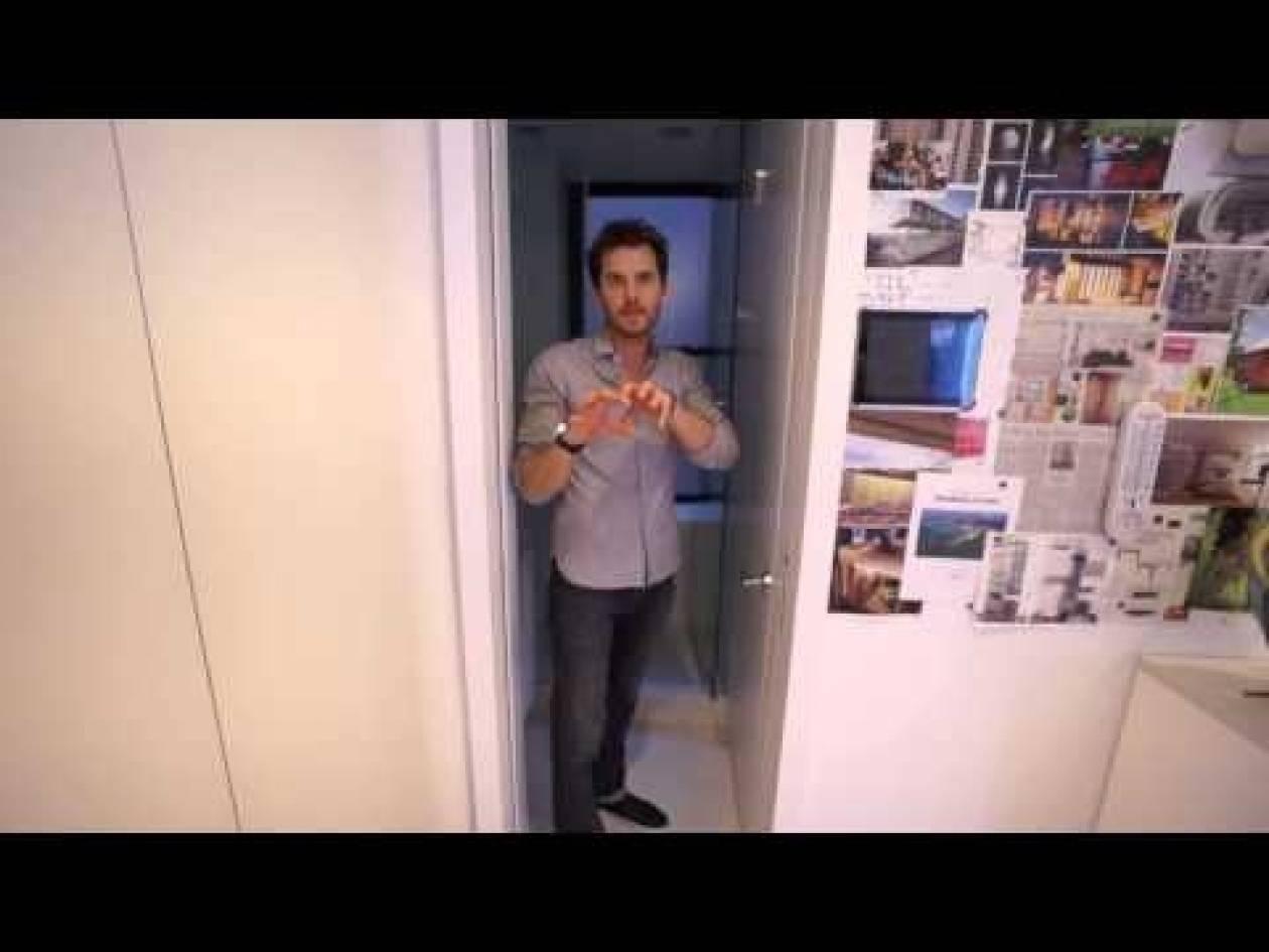 Βίντεο: Δείτε πως κατάφερε σε ένα σπίτι 42 τ.μ. να χωρέσει 8 δωμάτια!