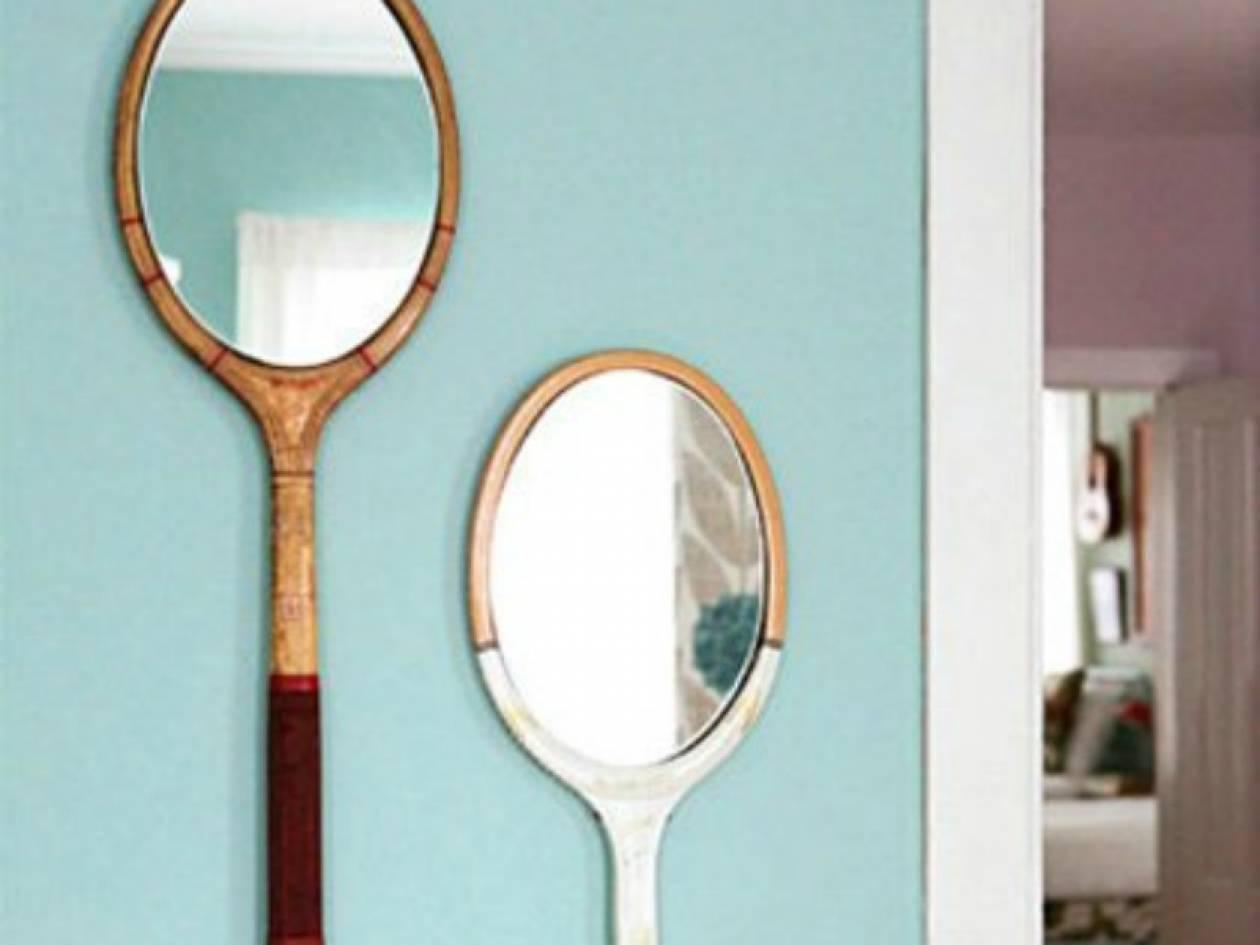 Παλιές ρακέτες μετατρέπονται σε στιλάτους καθρέφτες!