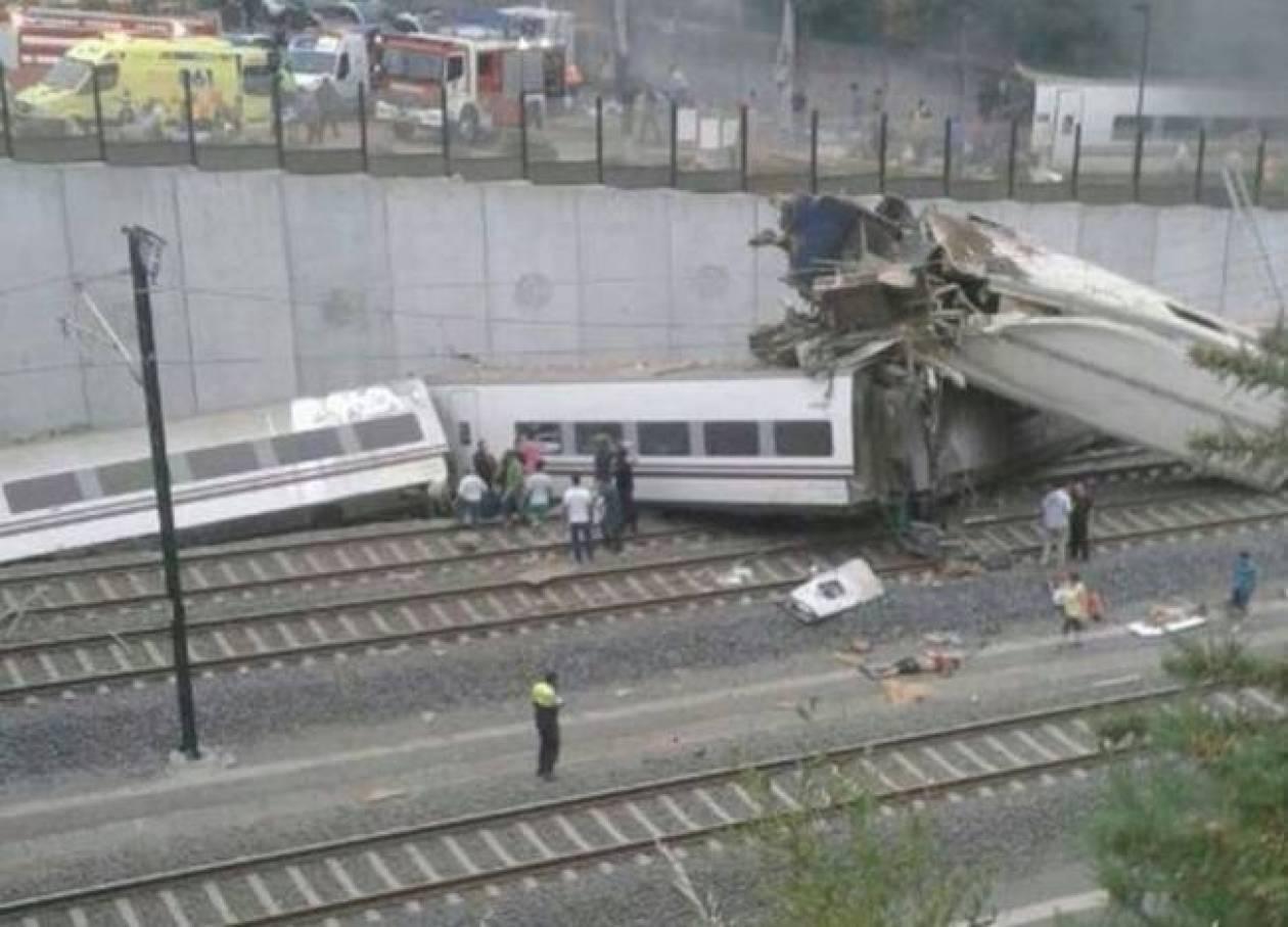 Ισπανία: Με 190 χλμ. έτρεχε το τρένο που εκτροχιάστηκε