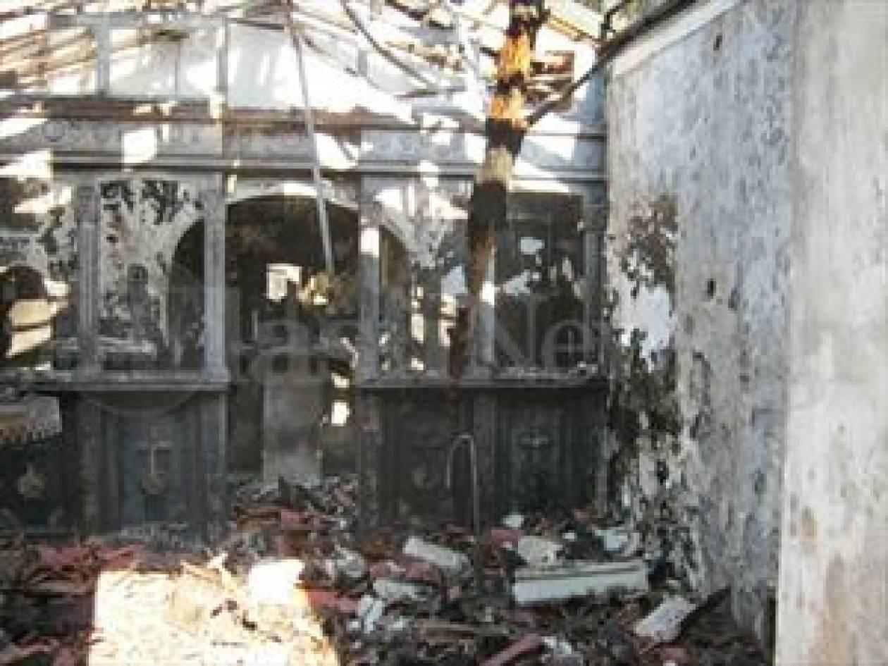 Κάηκε εκκλησία της Αγίας Παρασκευής ανήμερα της γιορτή της (pics-vid)