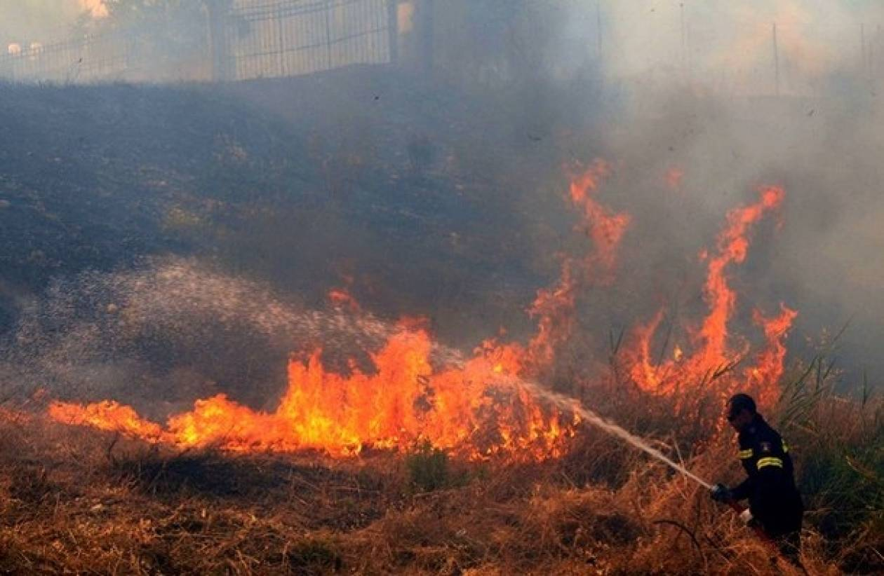 Φωτιά στη Μεσσαρά Ηρακλείου – Κινδυνεύουν σπίτια