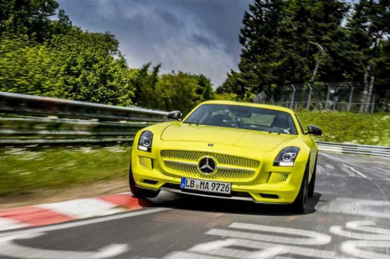 SLS AMG ELECTRIC DRIVE: Ρεκόρ στο NUERBURGRING