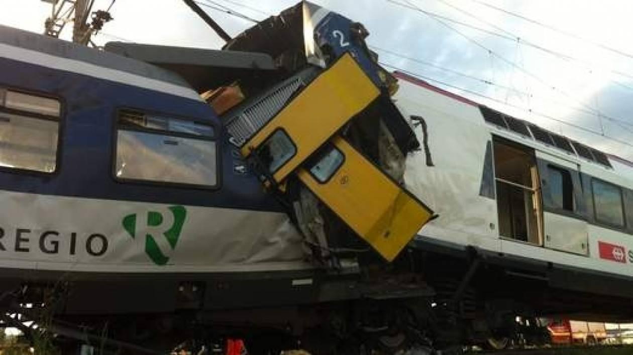 Ελβετία: Νέα τραγωδία - Μετωπική σύγκρουση δυο τρένων