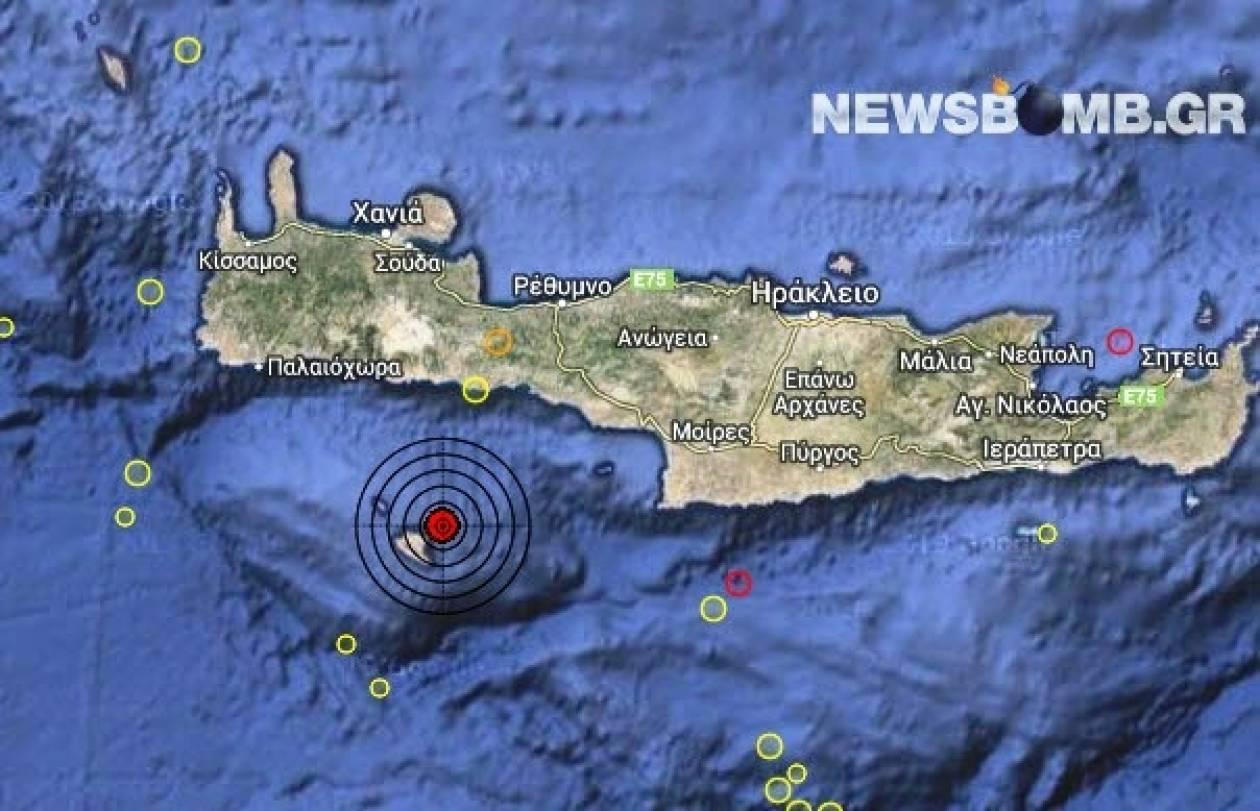 Σεισμός 3,7 Ρίχτερ ανατολικά της Γαύδου