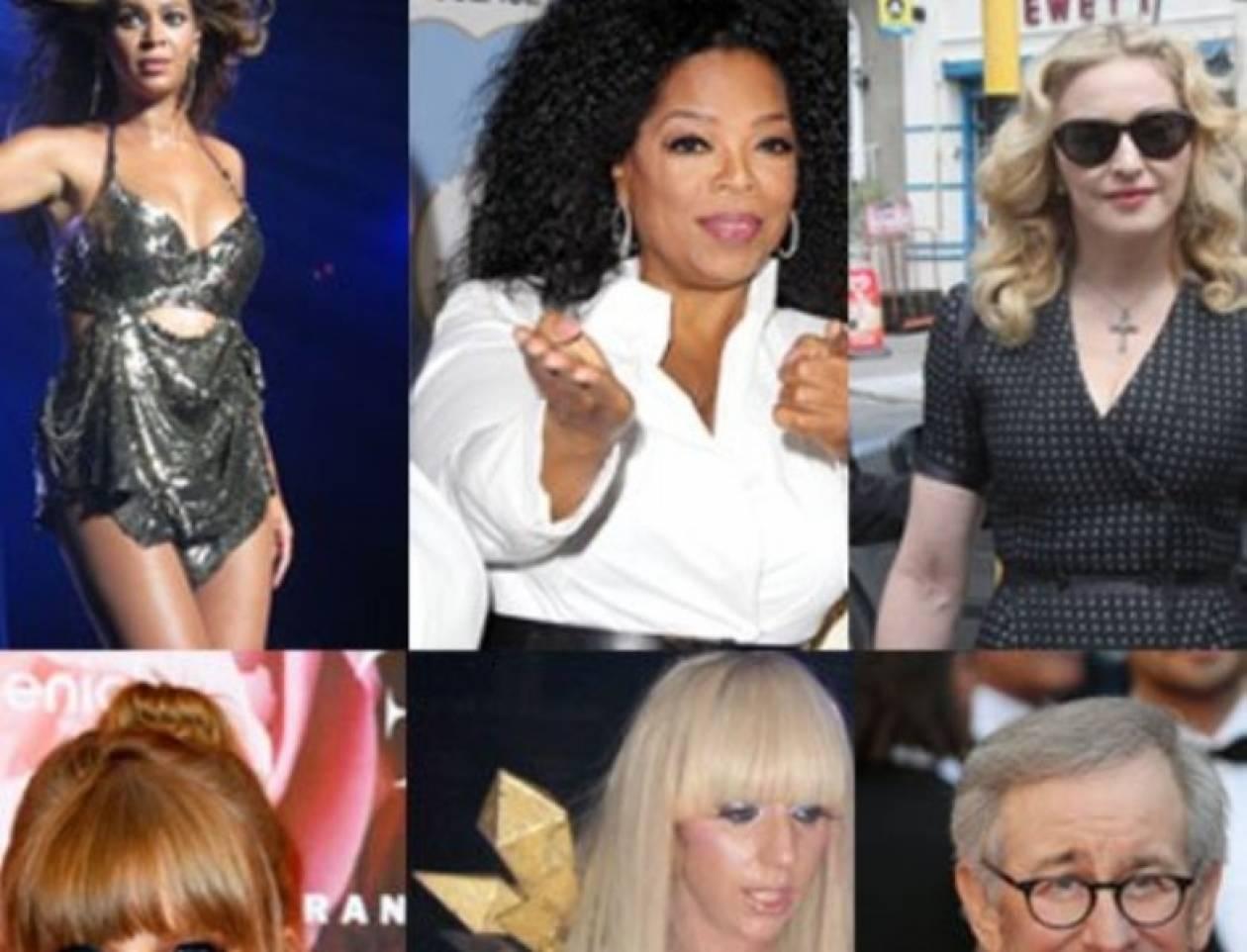 Ποιοι είναι οι πιο ισχυροί celebrities;