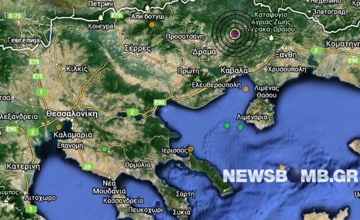Σεισμός 3,5 Ρίχτερ ανατολικά της Δράμας