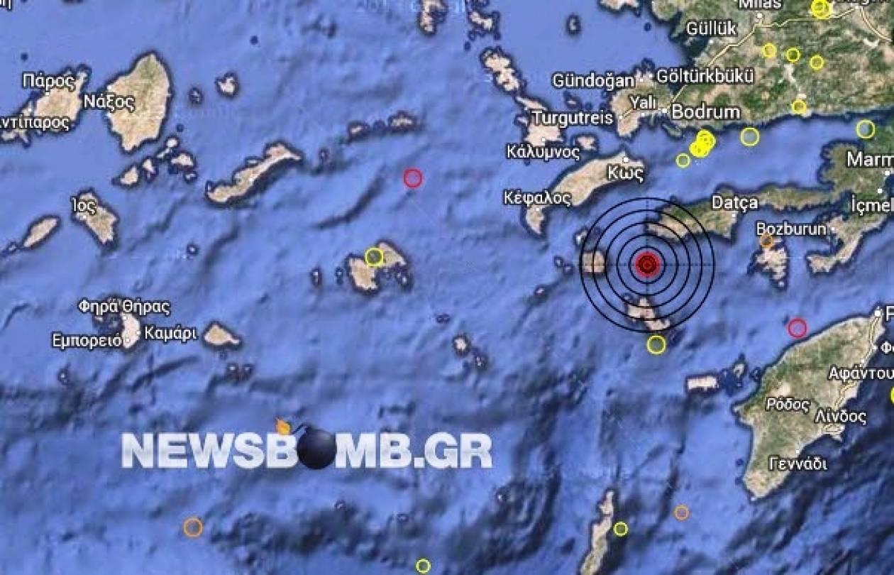 Σεισμός 4,1 Ρίχτερ ανατολικά της Νισύρου