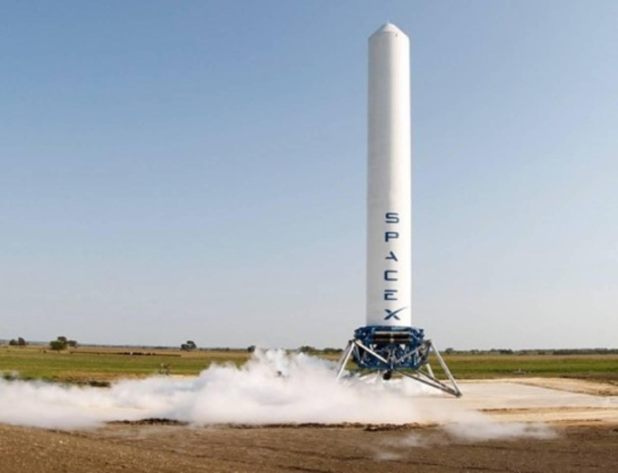 Εντυπωσιακό βίντεο πυραύλου κατακόρυφης προσεδάφισης!