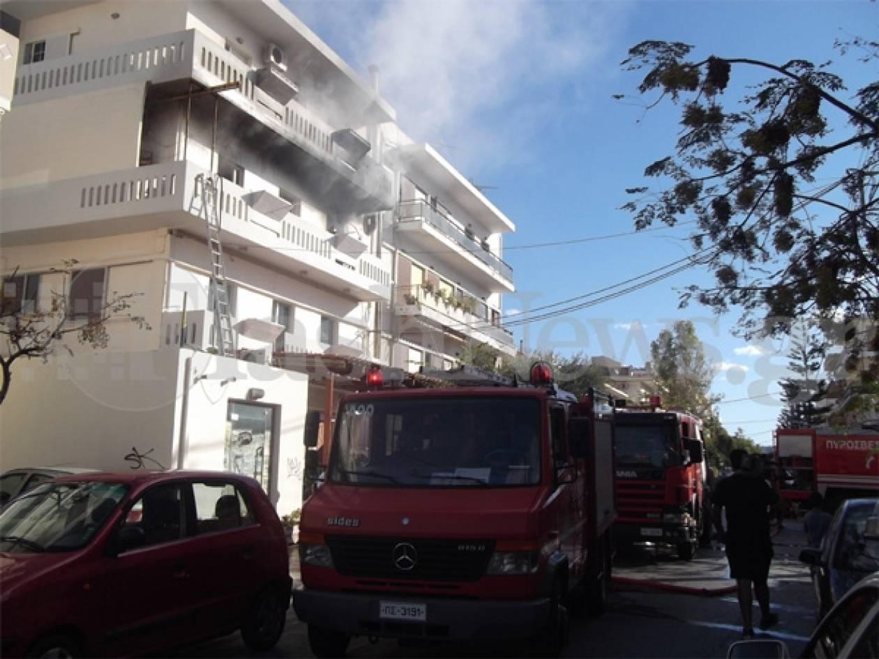 Κάηκε σπίτι στα Χανιά