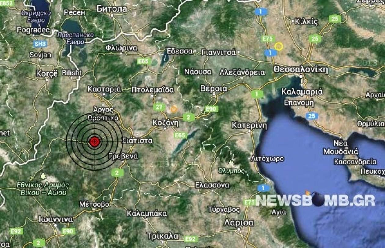 Σεισμός 3,3 Ρίχτερ βορειοδυτικά των Γρεβενών