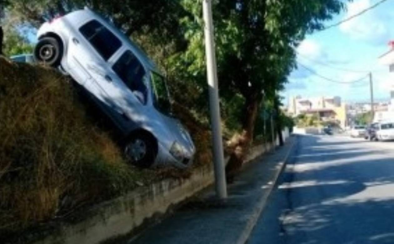 Ρόδος: Αυτοκίνητο βρέθηκε στον αέρα γιατί υποχώρησε το έδαφος