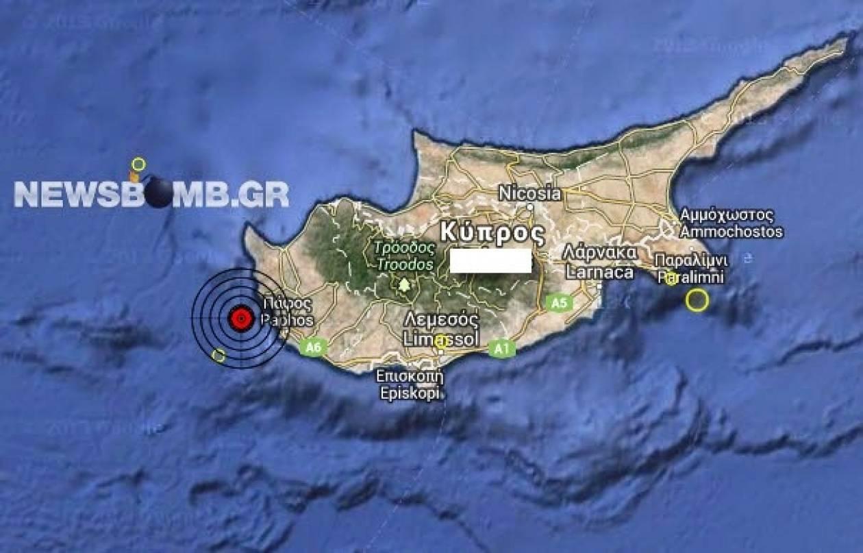 Κύπρος: Σεισμός 3,6 Ρίχτερ βορειοδυτικά της Πάφου