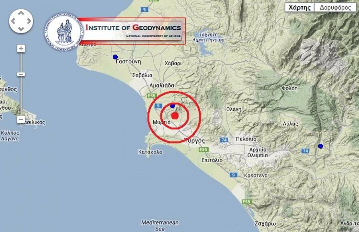 ΤΩΡΑ: Σεισμός 4,2 Ρίχτερ στην Ηλεία