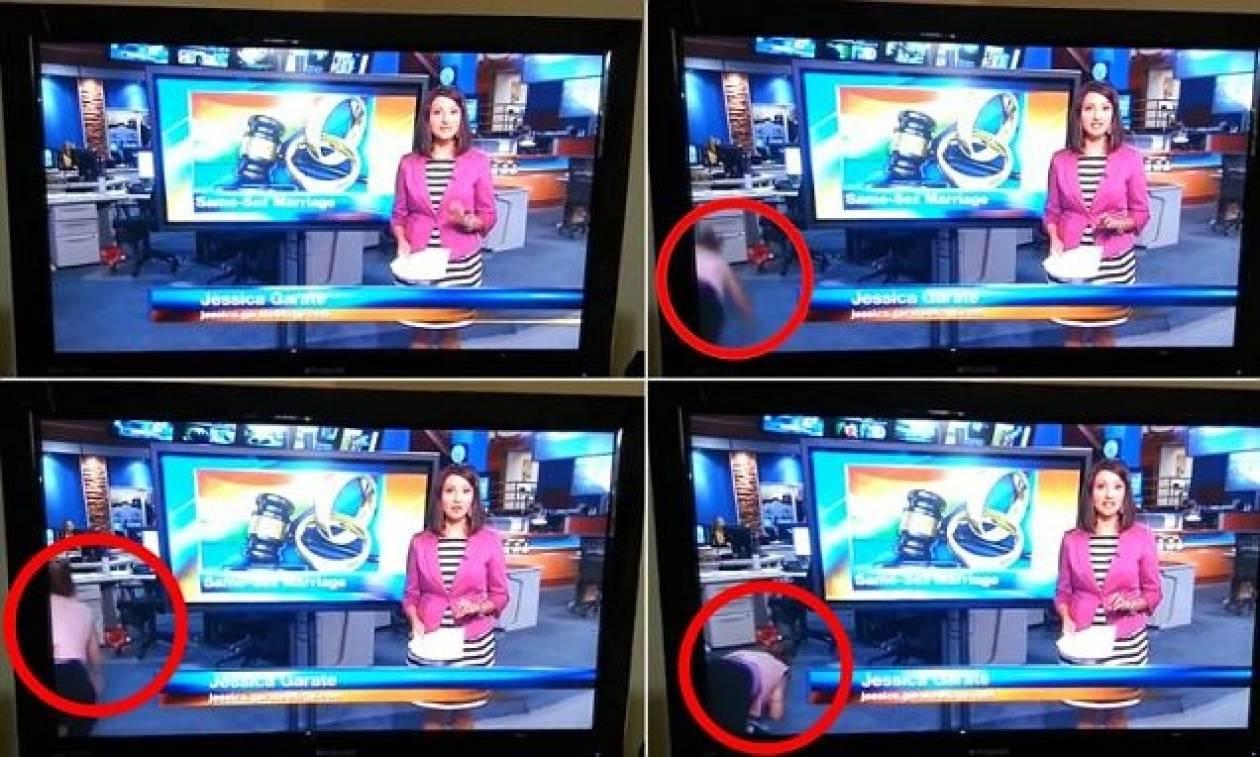 Έγινε... ρεζίλι: Δείτε τι έπαθε την ώρα του δελτίου ειδήσεων! (vid)