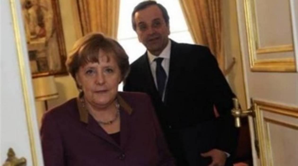 Τις ελληνικές θέσεις για την οικονομία μετέφερε στην Μέρκελ ο Σαμαράς