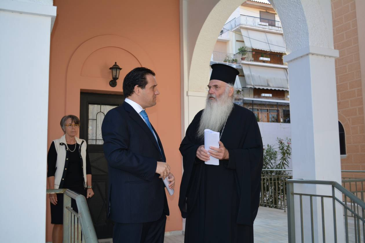 Επίσκεψη Γεωργιάδη στο Κέντρο Ανακουφιστικής Φροντίδας