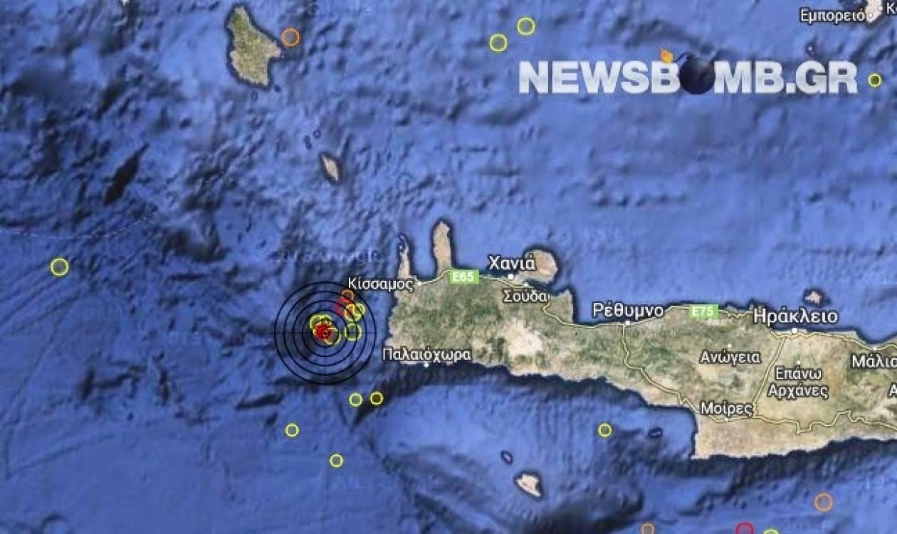 Σεισμός 3,1 Ρίχτερ δυτικά των Χανίων