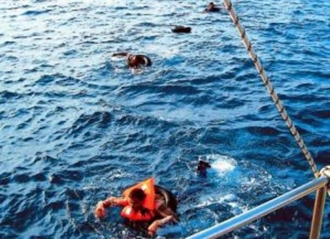 Περισυλλογή λαθρομεταναστών απο θαλάσσια περιοχή της Κω