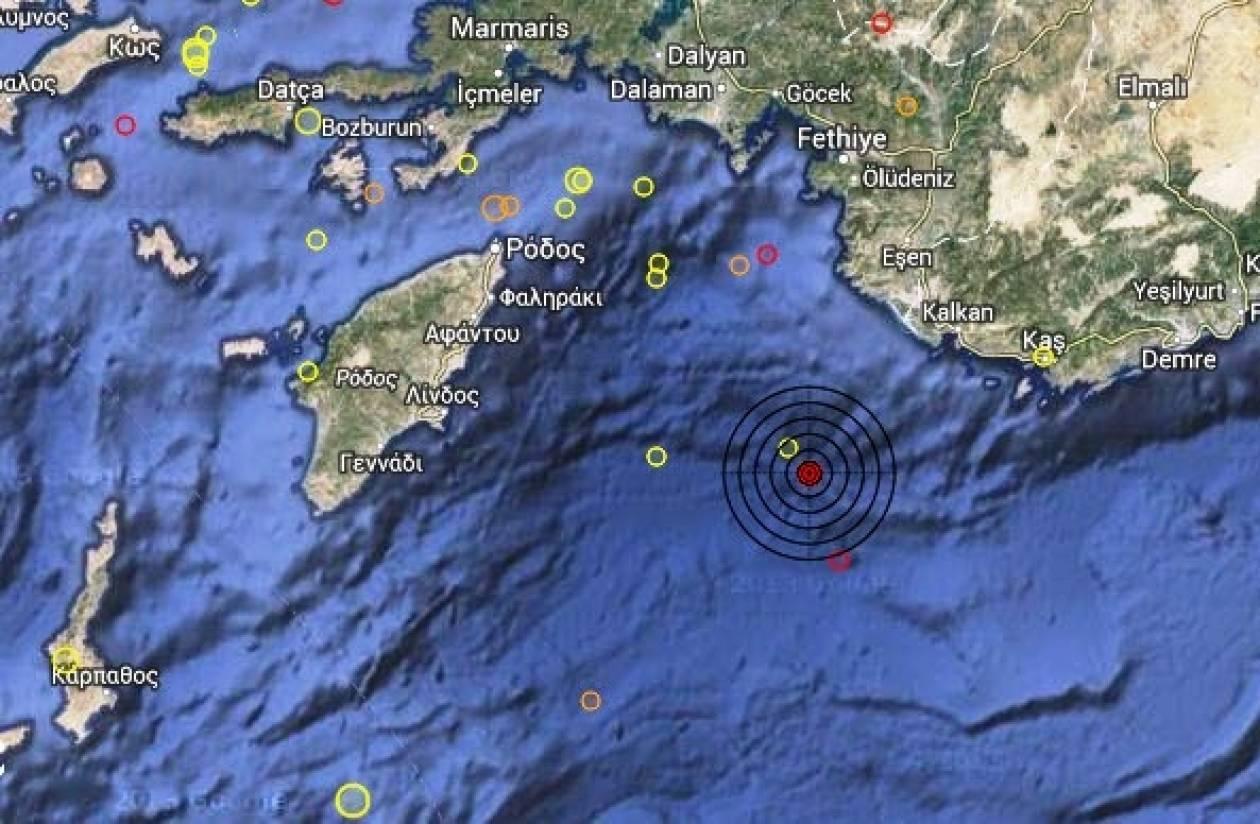 Σεισμός 3,1 Ρίχτερ στα νότια Δωδεκάνησα
