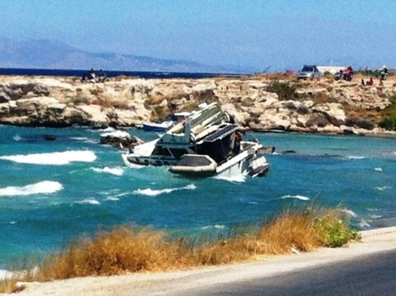 Προσάραξη τουριστικού σκάφους σε ακτή της Ρόδου