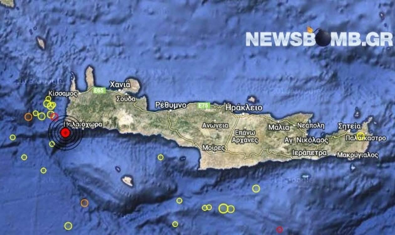 Σεισμός 3,2 Ρίχτερ νοτιοδυτικά των Χανίων