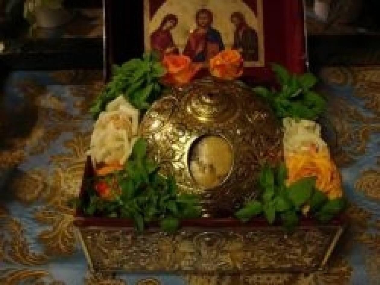H  Κάρα του Οσίου Δαβίδ στον Αγ. Γεώργιο Καστανά Θεσ/νίκης