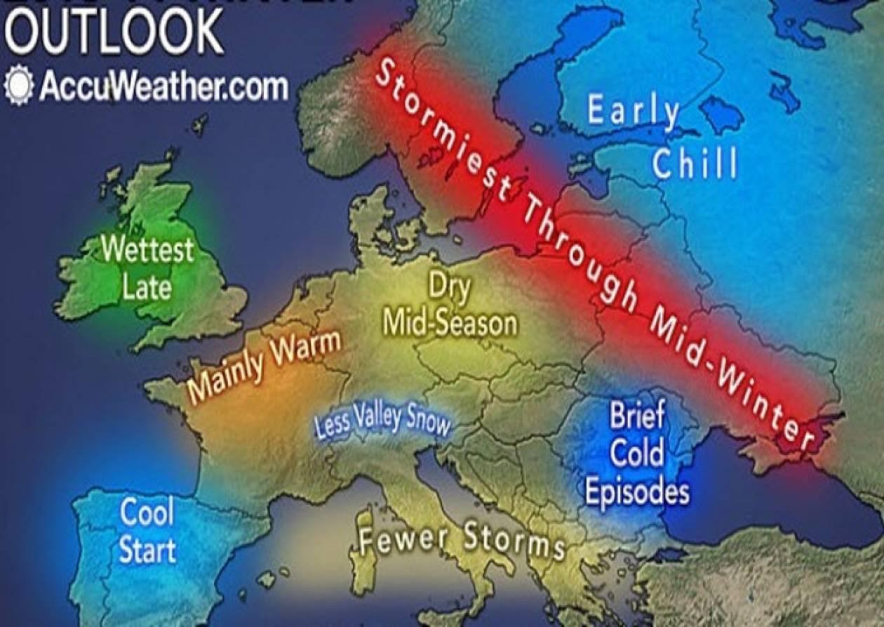 Τα νεότερα προγνωστικά στοιχεία για τον καιρό του φετινού χειμώνα