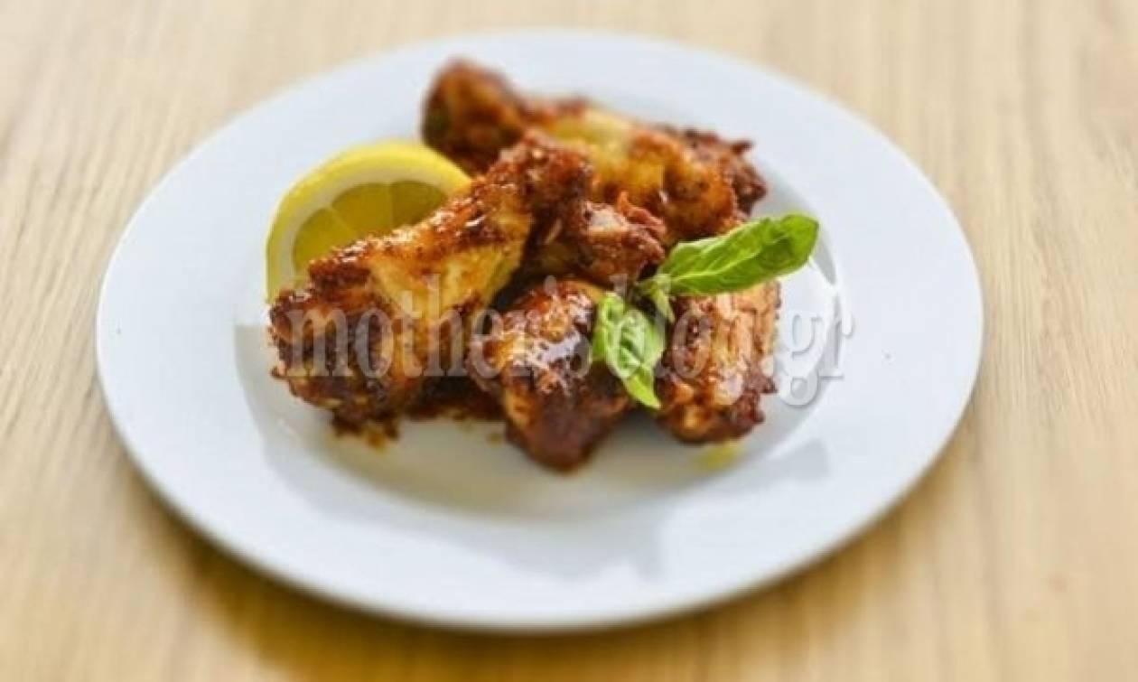 Συνταγή από το Γιώργο Γεράρδο για λαχταριστές φτερούγες κοτόπουλο