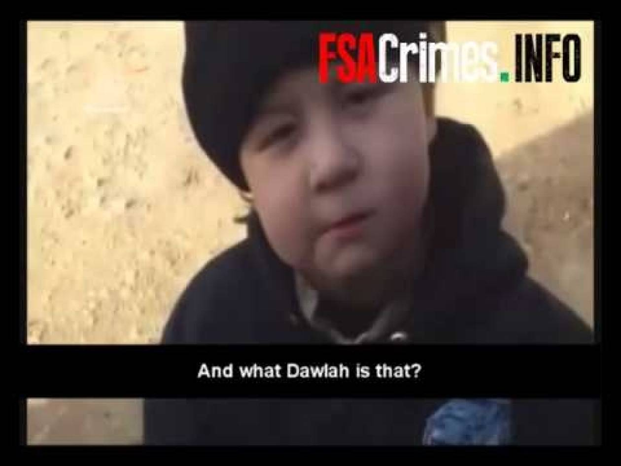 Συρία: Συγκλονιστικό βίντεο με τετράχρονο παιδί με αυτόματο όπλο