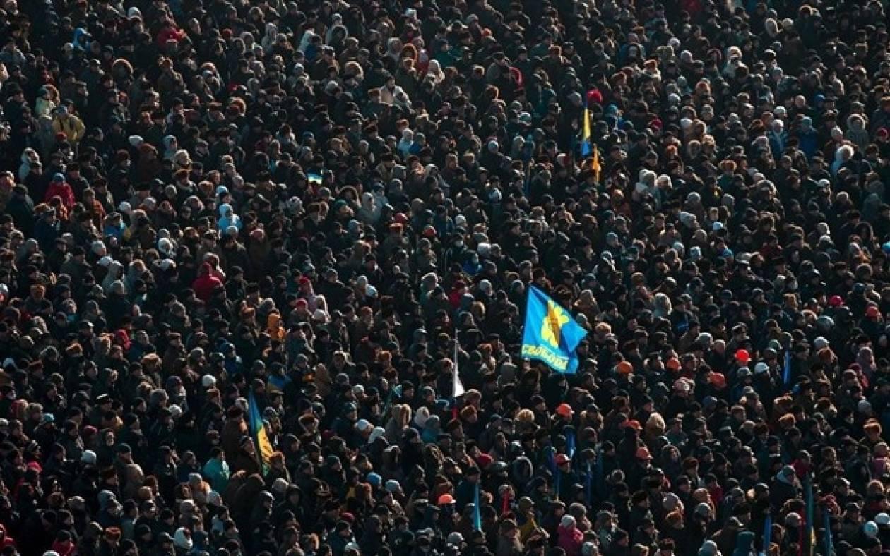 Κίεβο: 50.000 διαδηλωτές στο κέντρο της πόλης