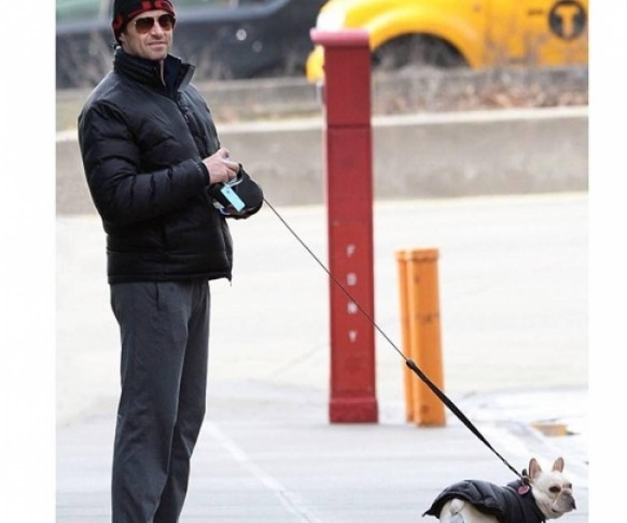 Ο Hugh Jackman και ο σκύλος του πάλι ντύνονται ασορτί (φωτό)