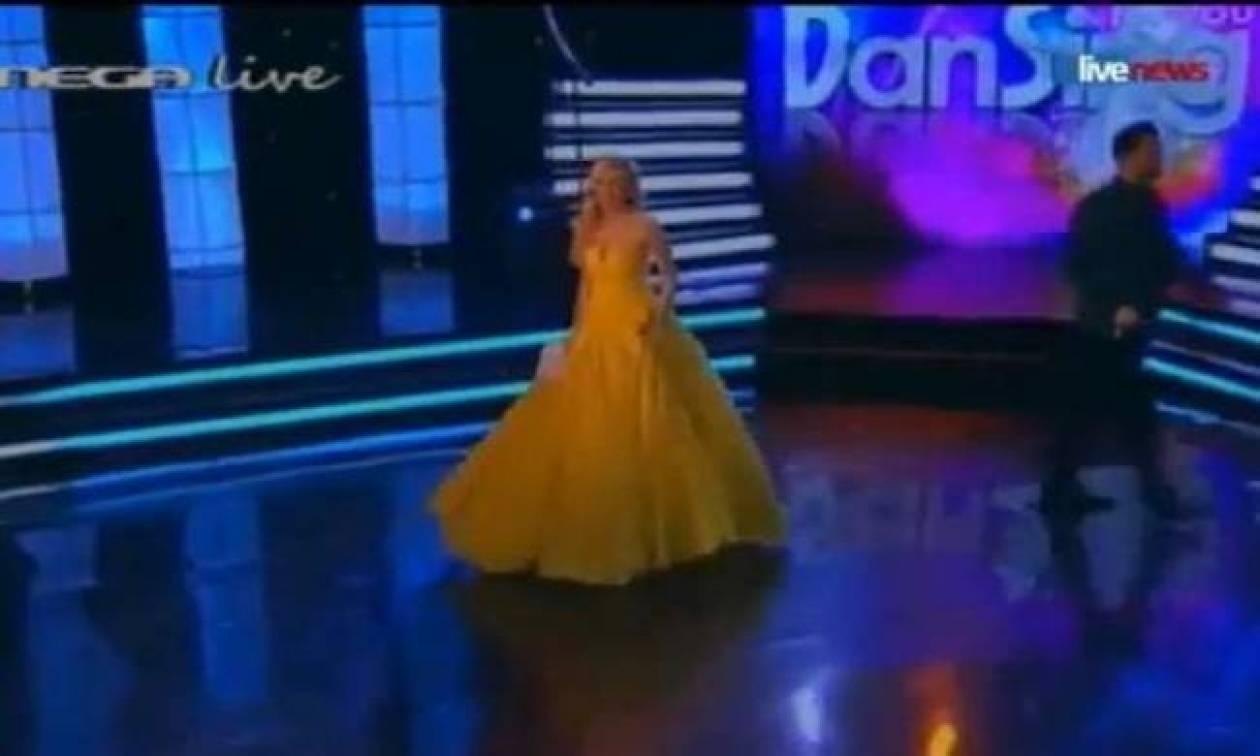 Παρουσιάστρια αποχώρησε την ώρα του τελικού του «Dansing for you»