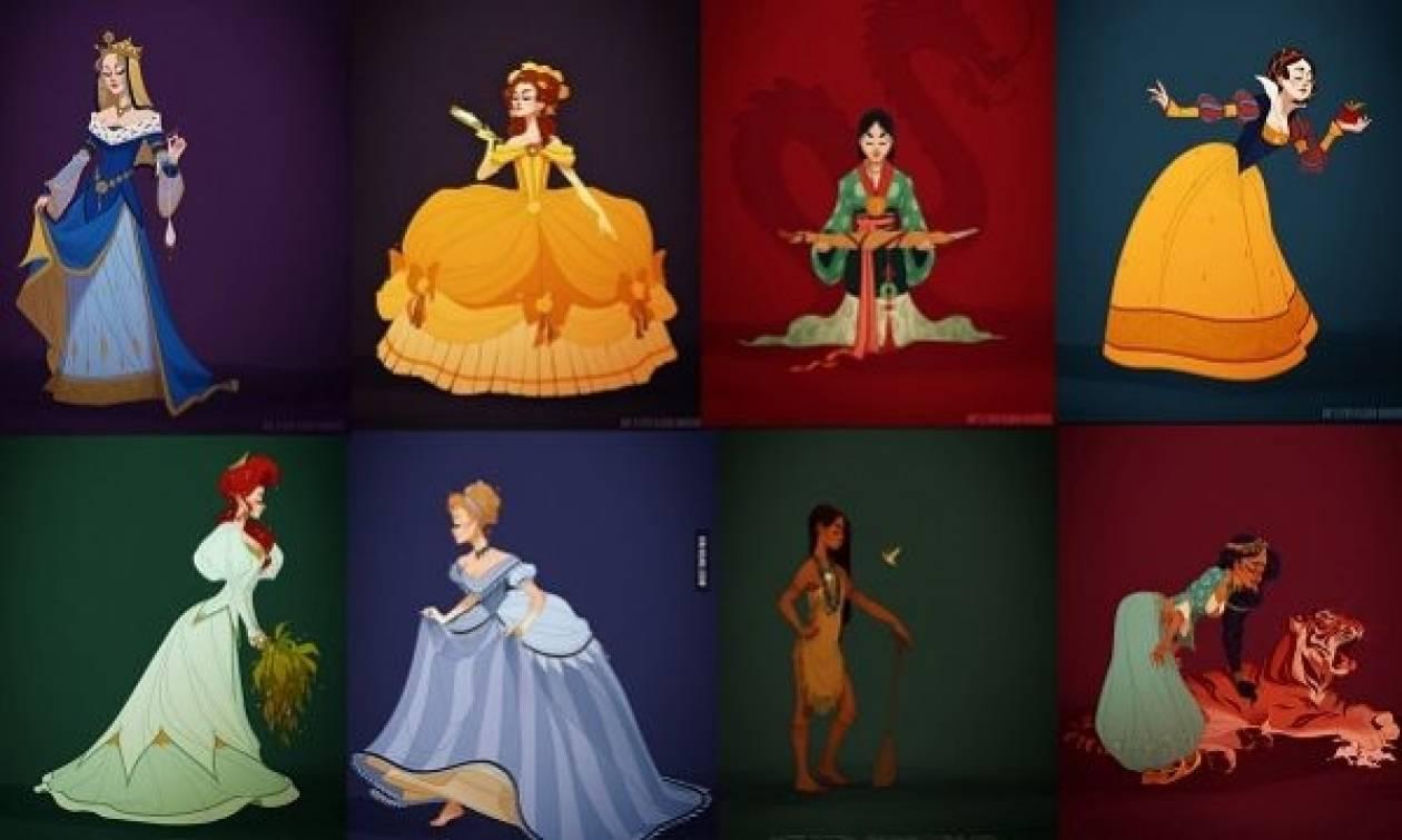 Οι πριγκίπισσες της Disney φορούν τις ενδυμασίες της εποχής τους pic