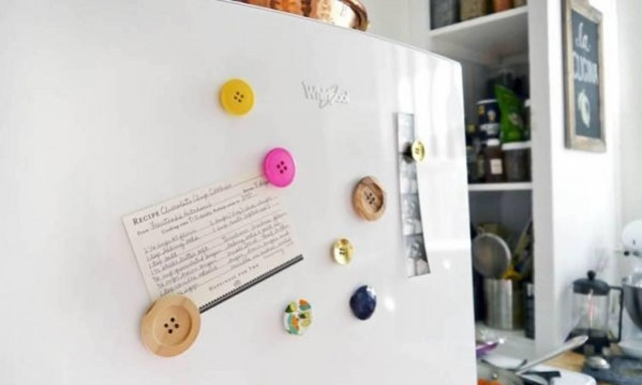 Κατασκευάστε μοντέρνα κουμπιά-μαγνητάκια