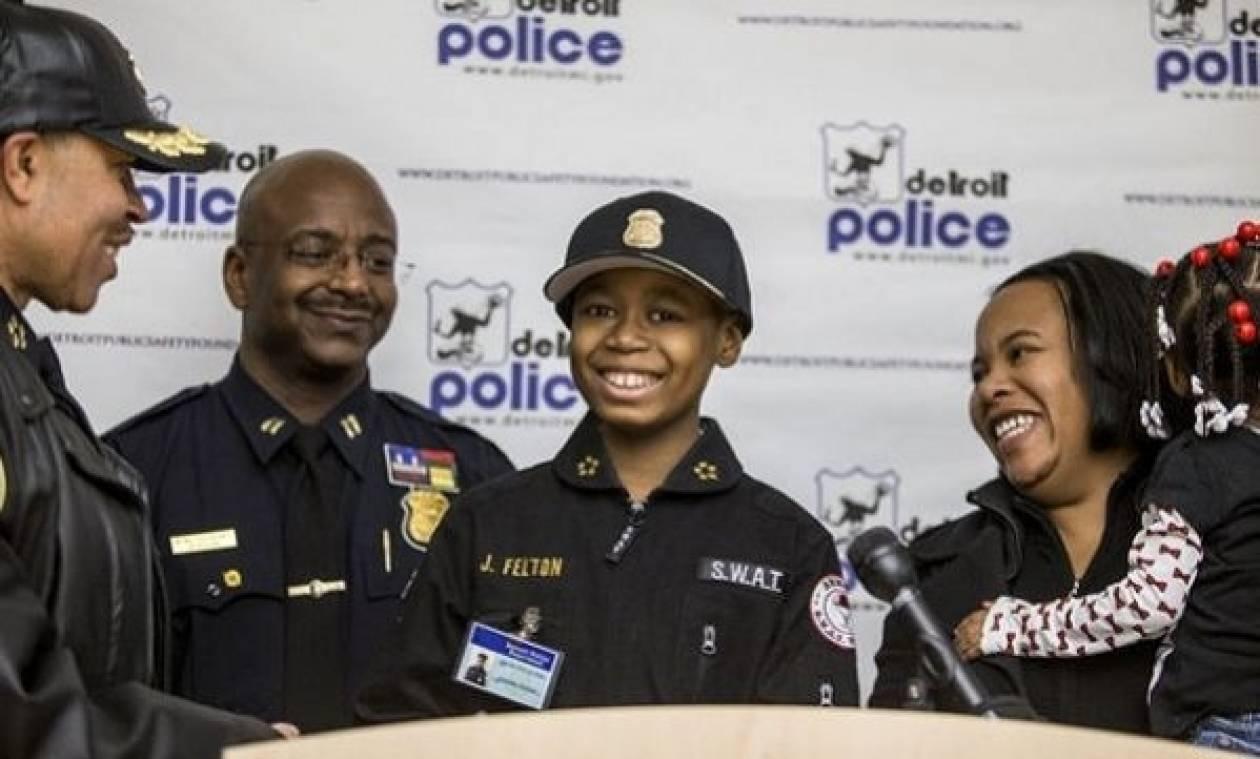 Ο 9χρονος καρκινοπαθής που έγινε αρχηγός της αστυνομίας!