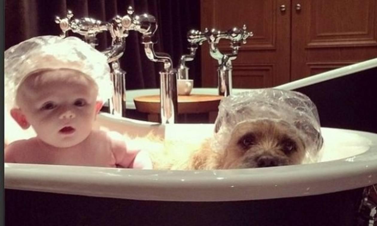 Το μωρό και ο σκύλος που έγιναν οι καλύτεροι φίλοι! (εικόνες+βίντεο)