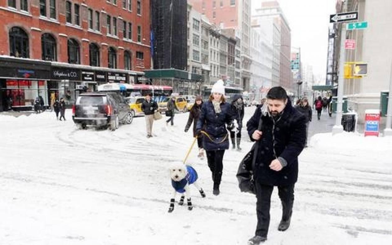 Νέο «κύμα» κακοκαιρίας στις ΗΠΑ: Ρεκόρ χιονόπτωσης στη Νέα Υόρκη
