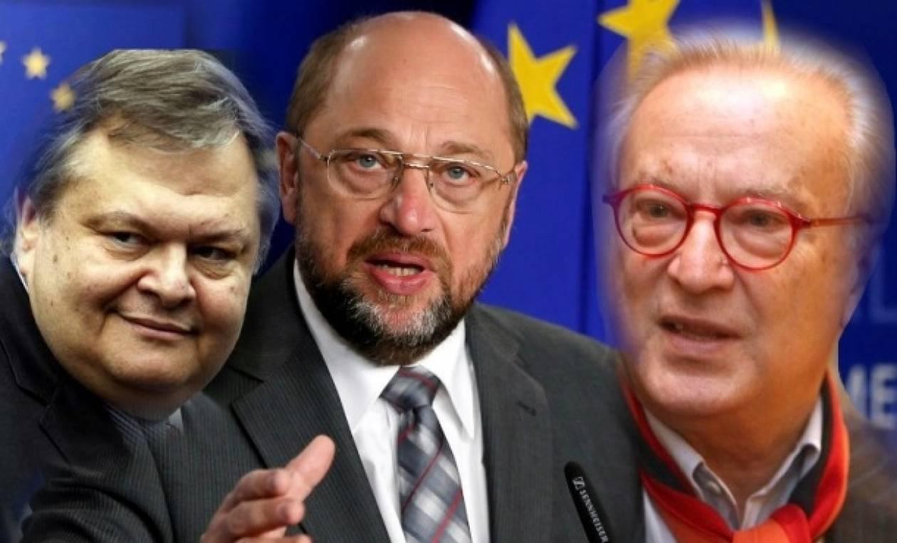 Συμφωνία Βενιζέλου-Σουλτς για κοινό ψηφοδέλτιο Σοσιαλιστών στην Ελλάδα